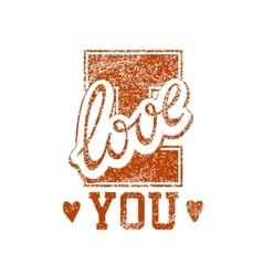 Love grunge stamp vector