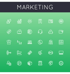 Marketing Line Icons vector image vector image