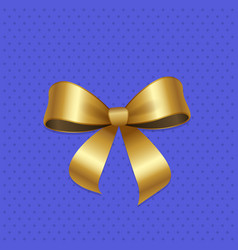 present or gift elegant tied satin ribbon of gold vector image