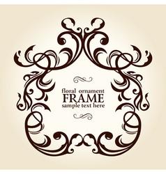 vintage retro floral frame ornament vector image