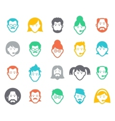 Avatar and people icons vector image vector image