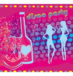 background disco party - drinks entertainment and vector image vector image