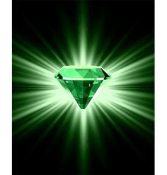 Beautiful green crystal background vector image vector image