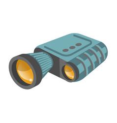 binoculars or modern zoom lens spyglass vector image