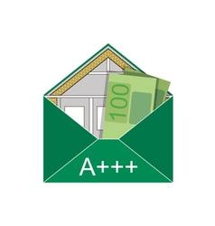 Building envelope saving the euro vector image