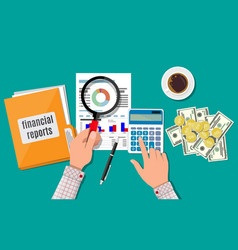 financial report concept business background vector image