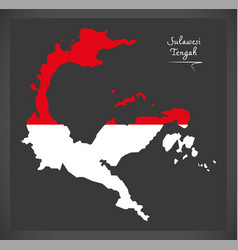 sulawesi tengah indonesia map with indonesian vector image vector image