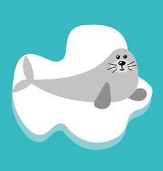 whalrus in flat style vector image vector image