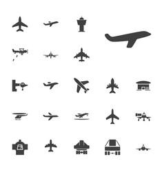 22 jet icons vector