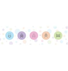 5 newborn icons vector