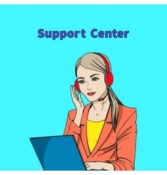 a concept of support center vector image