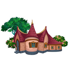 A fabulous house in park vector