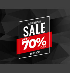 Abstract black friday sale banner design vector