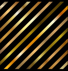 Abstract golden gradient color diagonal striped vector