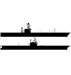 aircraft carrier silhouettes vector image