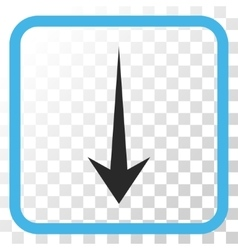 Arrow down icon in a frame vector