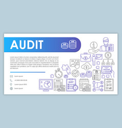 Audit web banner business card template vector