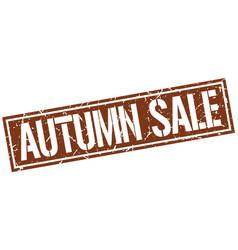 Autumn sale square grunge stamp vector