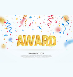 Award nomination ceremony vector