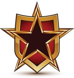 Branded golden geometric symbol stylized black vector