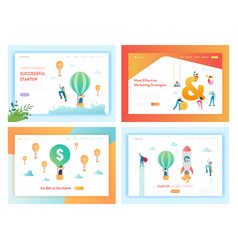 business solutions successful startup landing page vector image