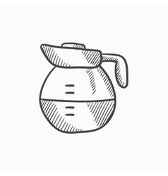 Carafe sketch icon vector image