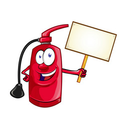cartoon character fire extinguisher vector image