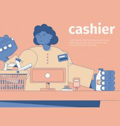 Cashier flat vector