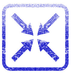 Center arrows framed textured icon vector