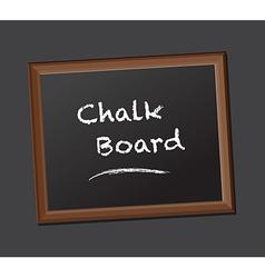Chalk board class rules vector