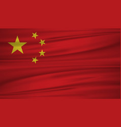 china flag flag of china blowig in the wind eps vector image