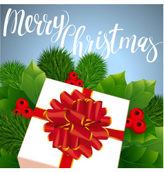 christmas gift in retro style vector image