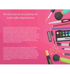 Colorful cosmetics concept with text vector image