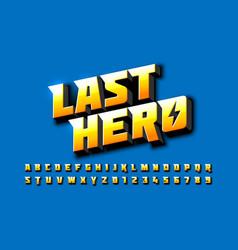 Comics superhero style font vector