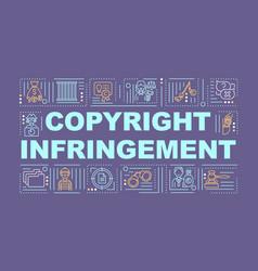 Copyright infringement word concepts banner vector