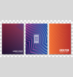 covers template design with abstract background vector image