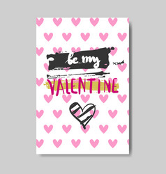 cute valentine day greeting card design sketch vector image
