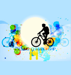 Cycling championship scene vector