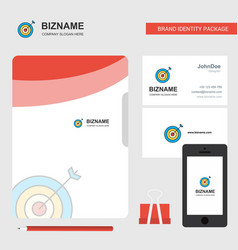 dart business logo file cover visiting card and vector image