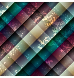 Diagonal abstract geometric pattern with grunge vector