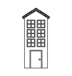 exterior building isolated icon vector image
