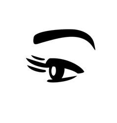 Eyelashes and eye vector