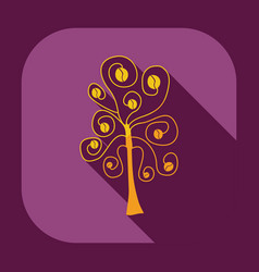 Flat modern design with shadow icon coffee tree vector