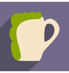 Flat with shadow icon and mobile applacation beer vector