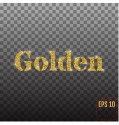 from golden sand and confetti with glitter on a vector image