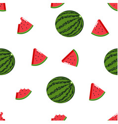 fruit watermelon seamless pattern white background vector image