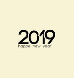 happy new year 2019 creative background for vector image