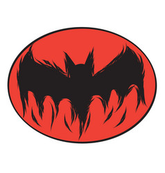 Icon happy halloween bat devil ghost line art vector