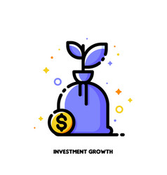 icon money tree with dollar for financial growth vector image