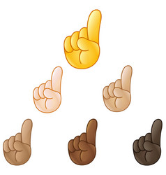 Index pointing up hand emoji vector